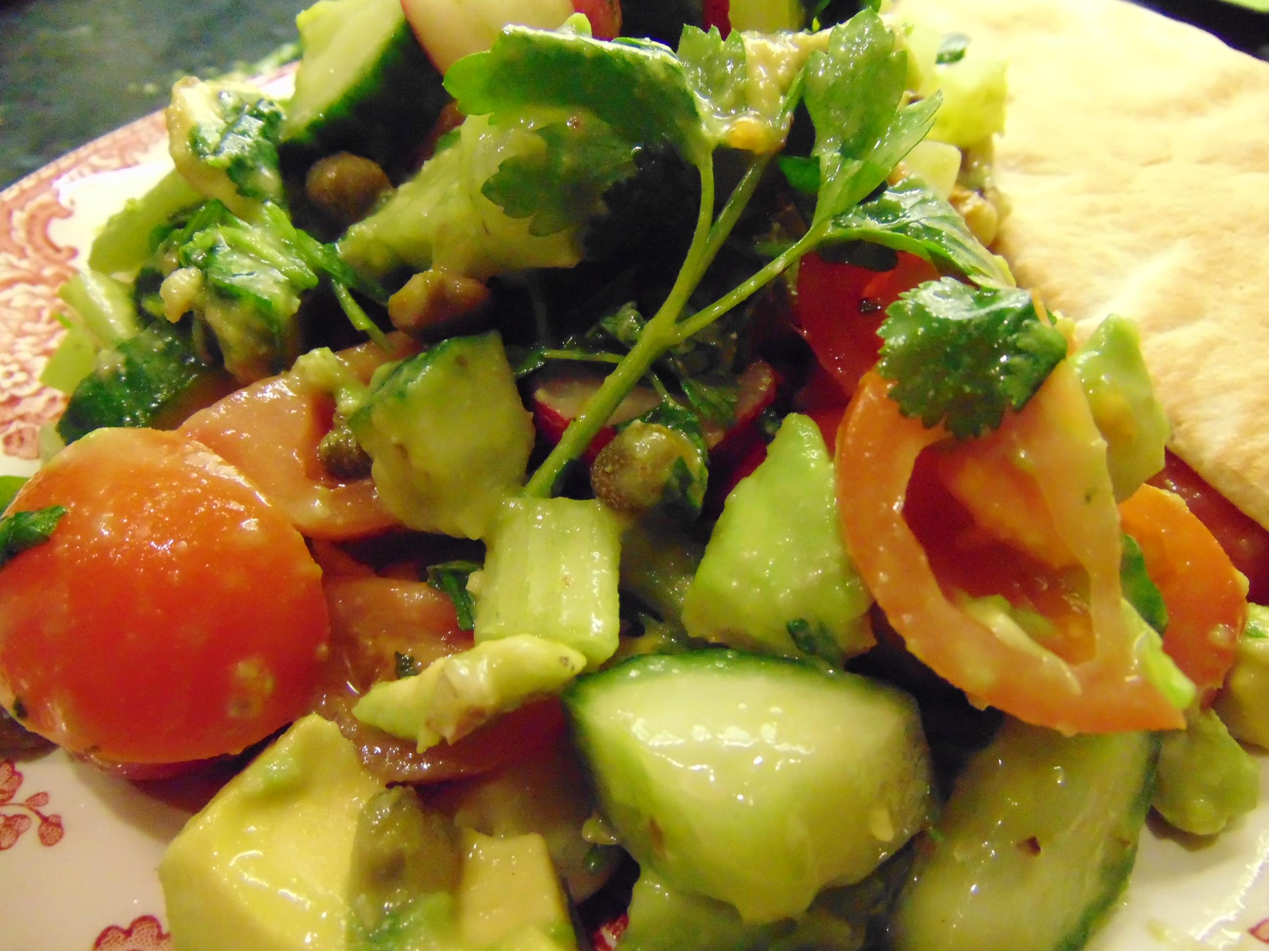 herb salad   eatwithgusto